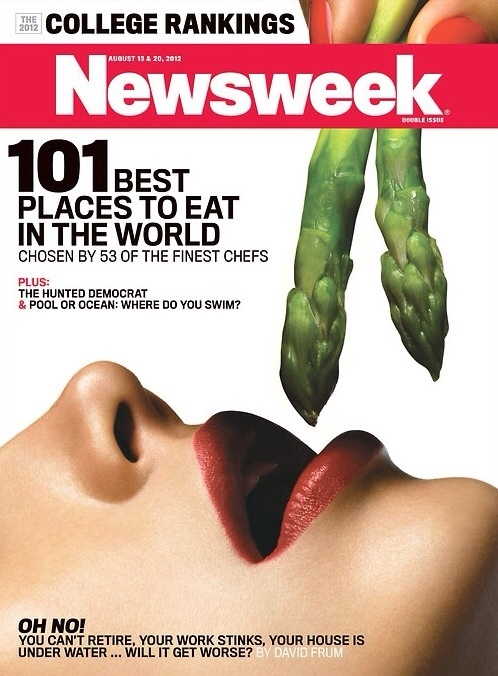 Newsweek cover takes food porn to a whole new level.