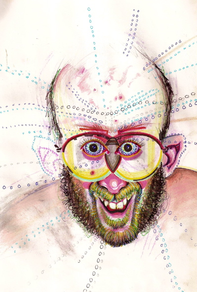 Artist paints his self-portrait while high on a different drug every single day.