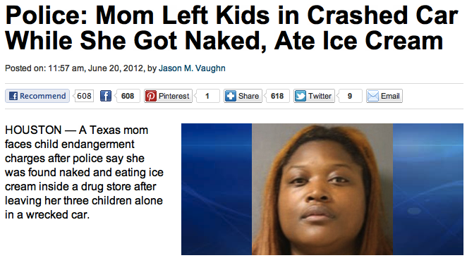A new contender for Worst Mother Of All Time.