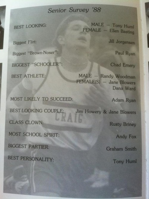 Paul Ryan's high school chose him for something even more embarrassing than the Romney ticket.