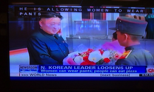 How you know North Korea is no longer an oppressive dictatorship bent on destroying the world.