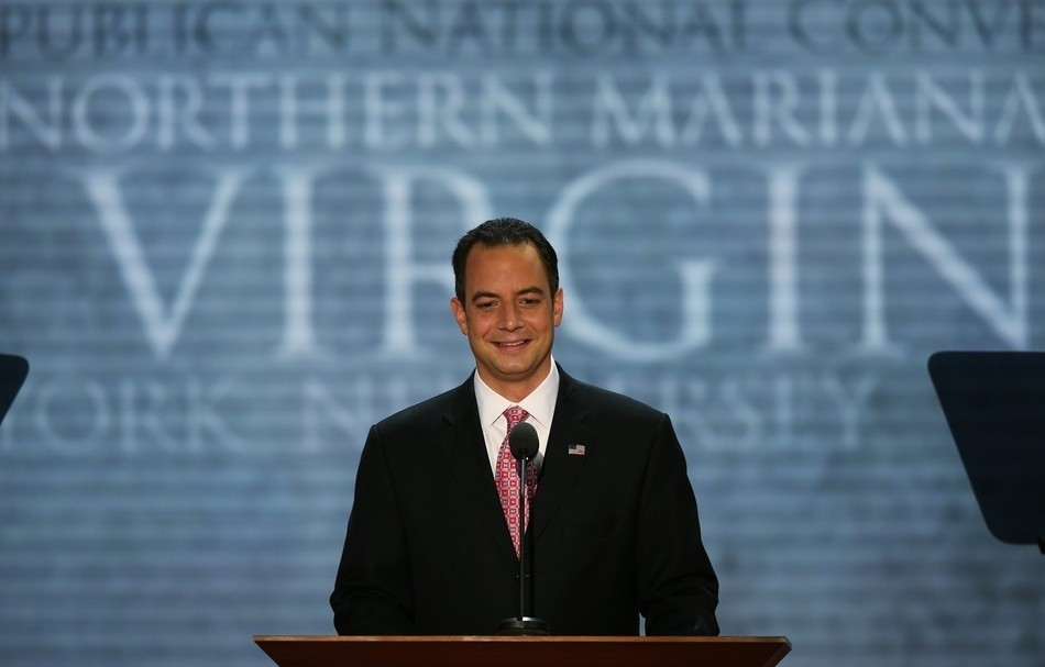 The most embarrassingly timed photo of the RNC chairman you'll see today.