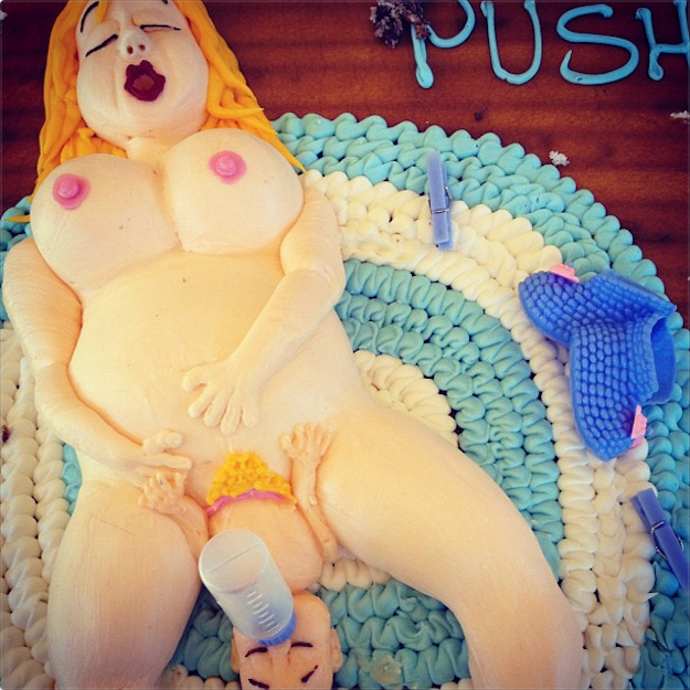 The most horrifyingly inappropriate way to celebrate a pregnancy.
