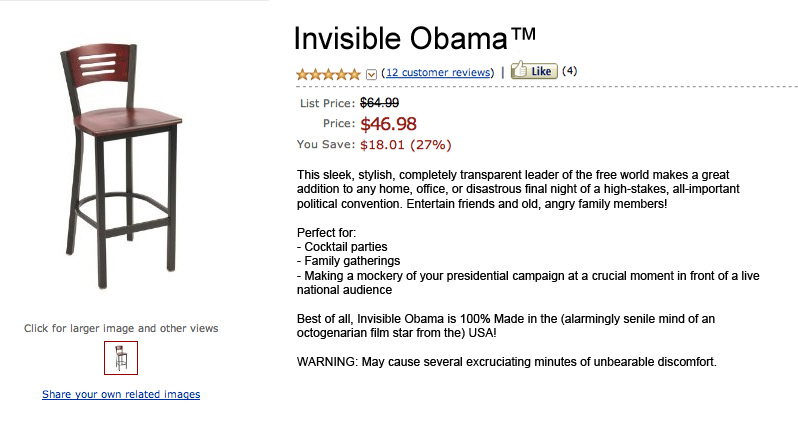 Now you too can pretend to berate an invisible Barack Obama.