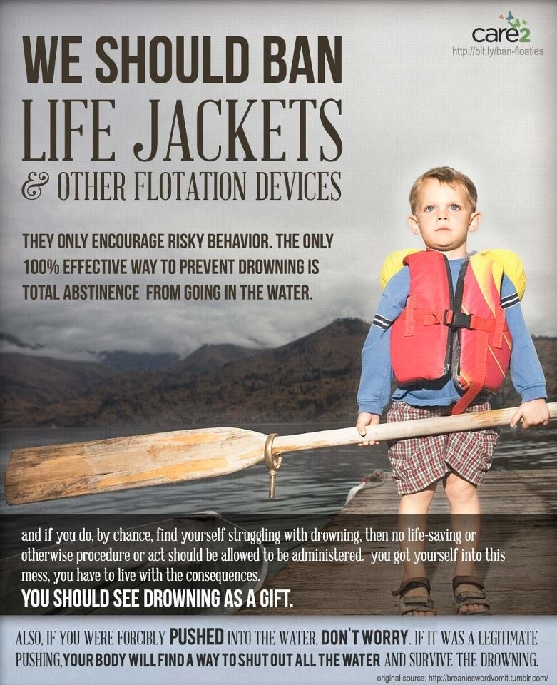 Pro-choice poster uses Todd Akin logic to prevent little kids from using floaties.