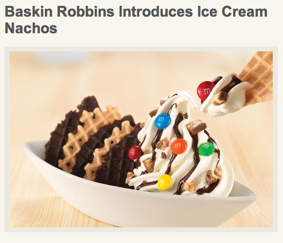 Baskin Robbins attempts to undo Michelle Obama's efforts to promote fitness over the past four years.