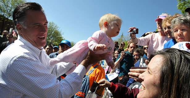 12 photos of Mitt Romney awkwardly attempting to hold babies.