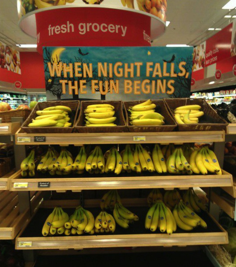 Grocery store sign is surprisingly suggestive about how you should pleasure yourself.
