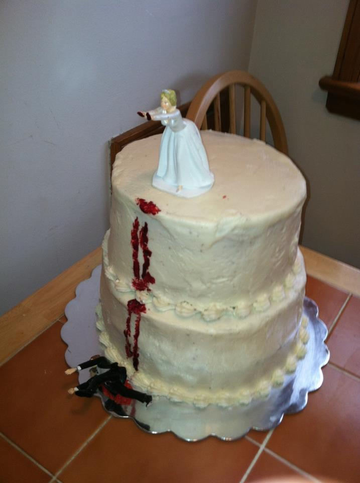 The perfect cake to celebrate the end of a horrible marriage.