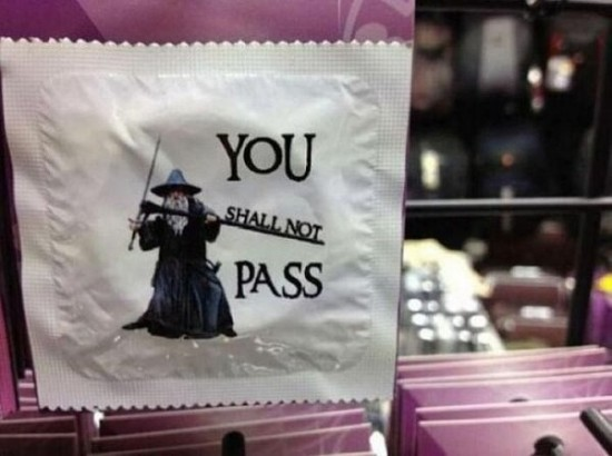 A condom for people too nerdy to ever need a condom.