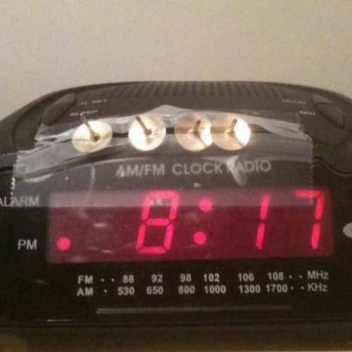 Terrifying snooze button ensures you'll never have to come up with a crappy excuse for being late again.