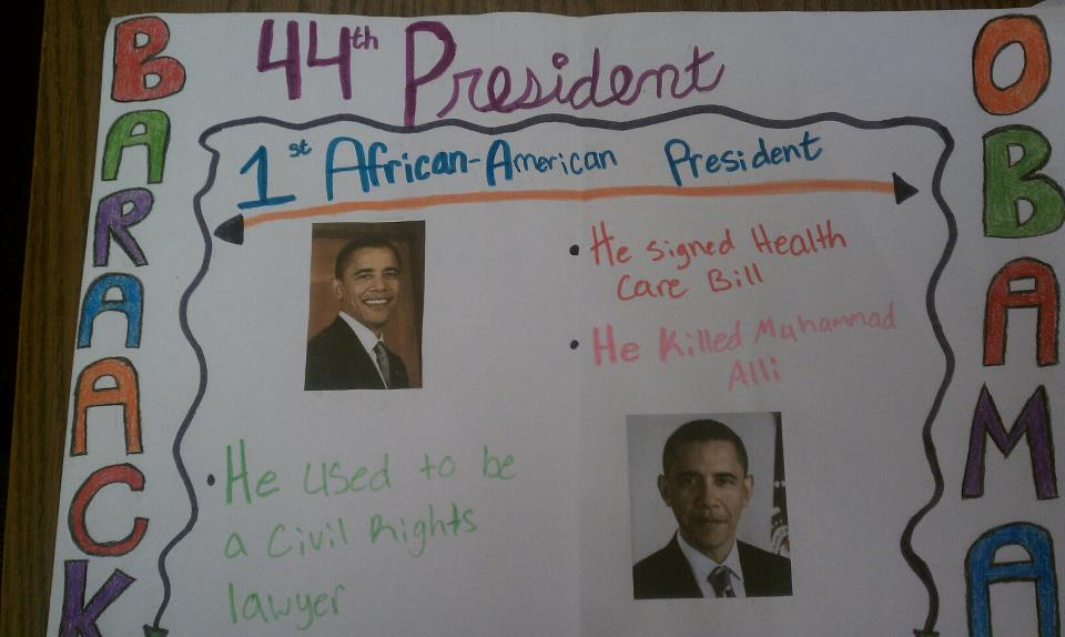 The most half-assed school project on Barack Obama ever completed.