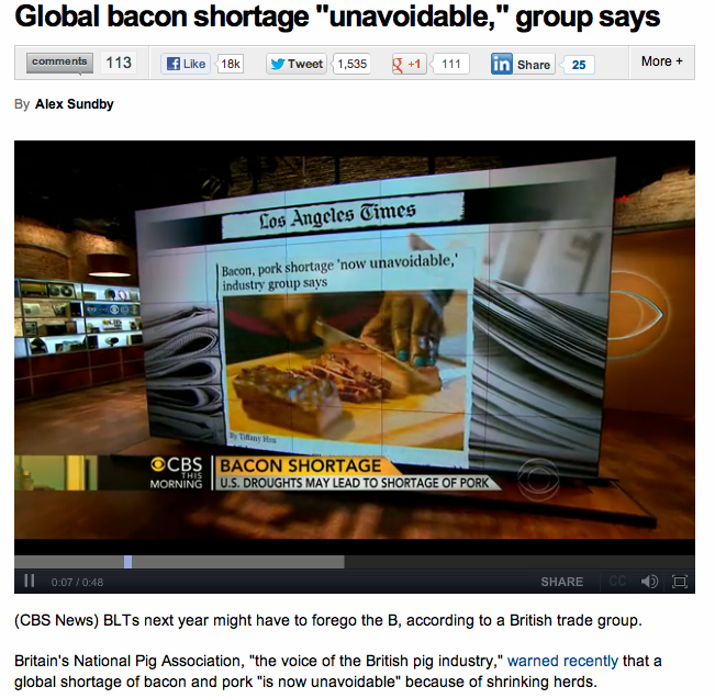 A headline sure to cause panic and looting around the globe.