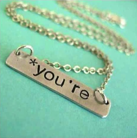 How to correct 90 percent of grammar mistakes with a single piece of jewelry.
