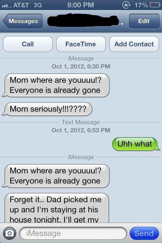 A wonderful way to prank a teenager texting the wrong number looking for her mom.
