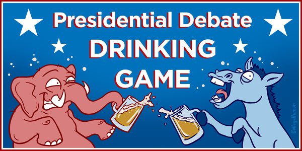 Make tonight's debate far more tolerable with the Presidential Debate Drinking Game.