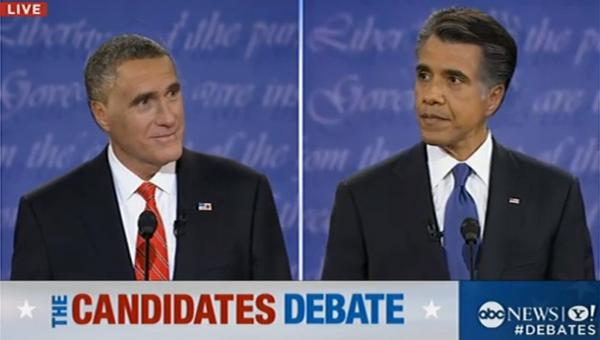 If the presidential candidates traded hair-styles for last night's debate.