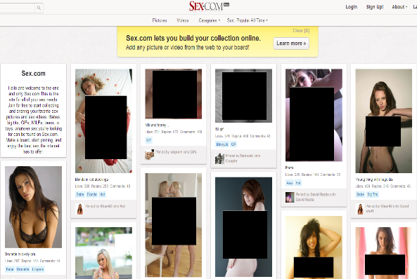 Porn site models itself after world's least sexy social network.