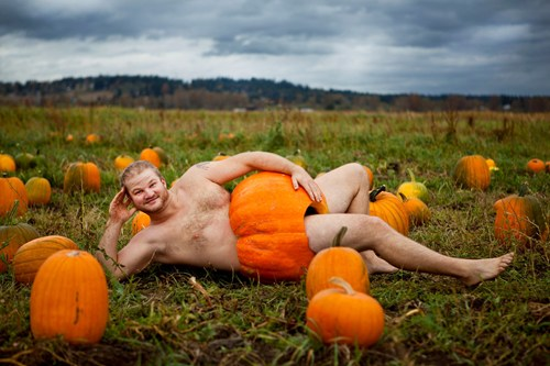 A photo to make you never want to put your hand inside a pumpkin again.