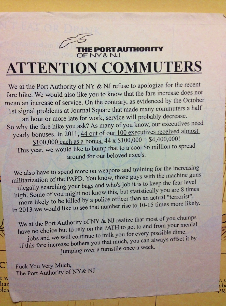 Commuter posts brutally honest explanation of train fare hike.