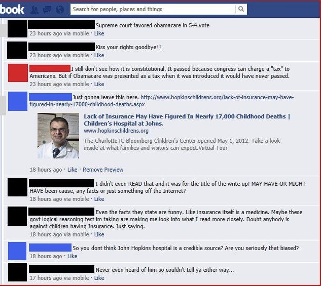 Even more examples of political idiocy on Facebook that prove we're all doomed.