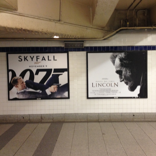 Movie posters inadvertently reenact historic tragedy.