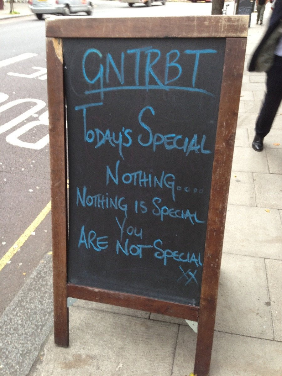 The most amusingly absurd chalkboards ever seen outside of restaurants.