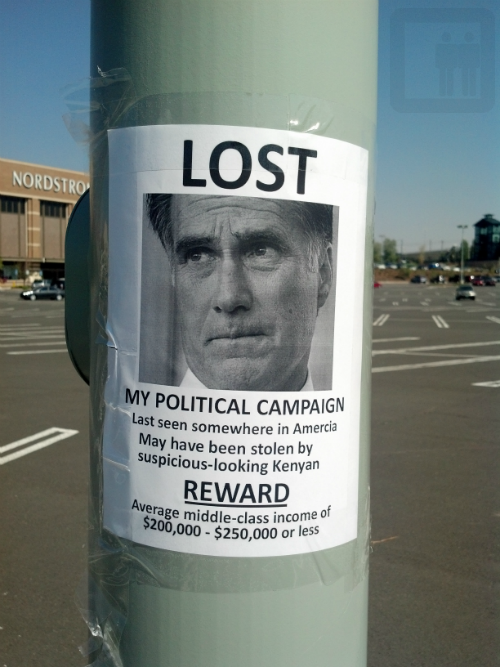The 2012 election summed up in one brilliant flyer.
