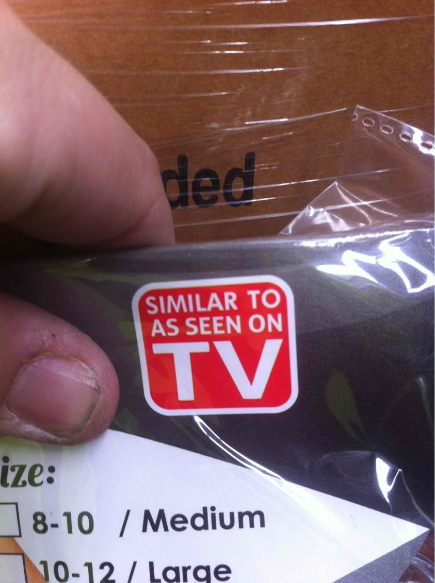 The saddest product sticker in the history of retail.
