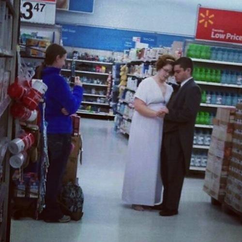 The least romantic wedding photo ever taken.