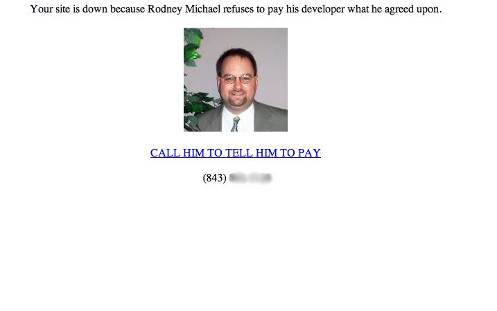 Website developer gets revenge on deadbeat client.