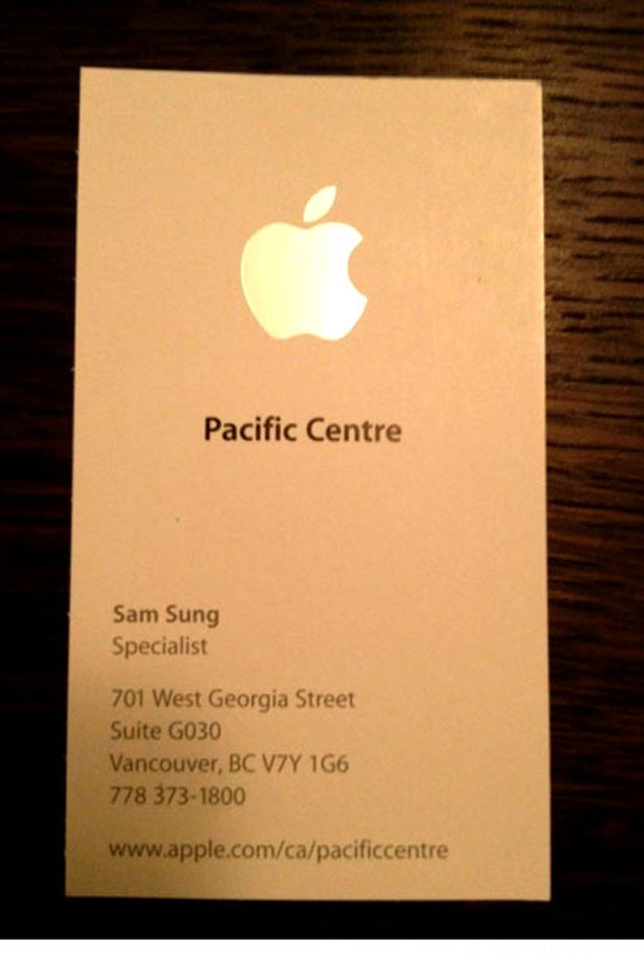 Worst possible name for an Apple employee.