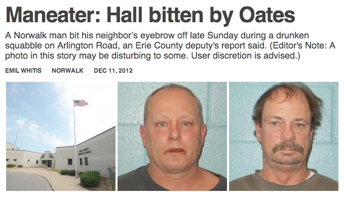 Drunken assault results in greatest headline opportunity of all time.