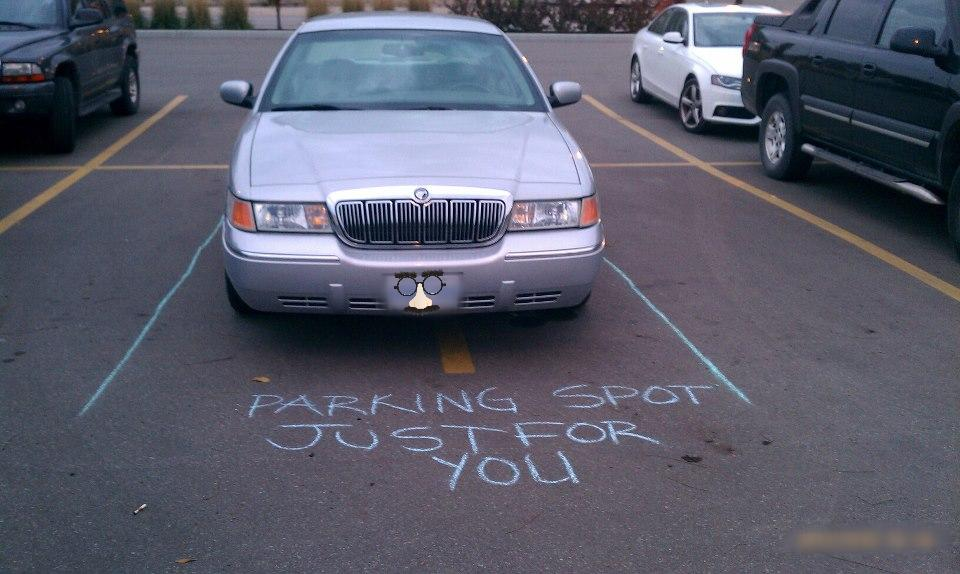 How to passive-aggressively shame someone for an inconsiderate parking job.