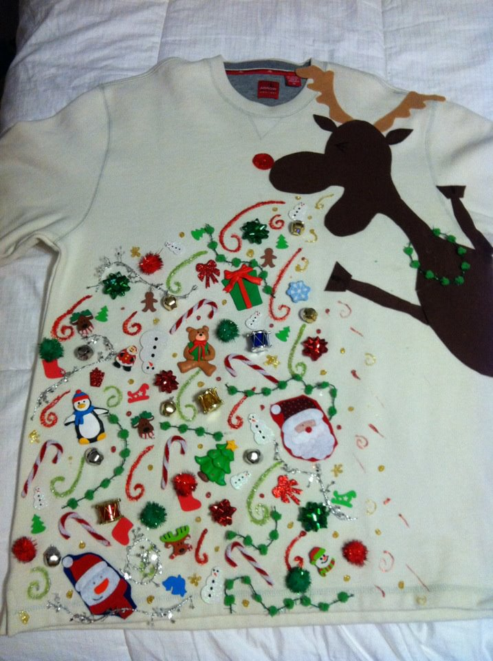 Christmas sweater perfectly captures hatred of Christmas.