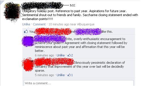 New Years Resolutions Made In Facebook Statuses New
