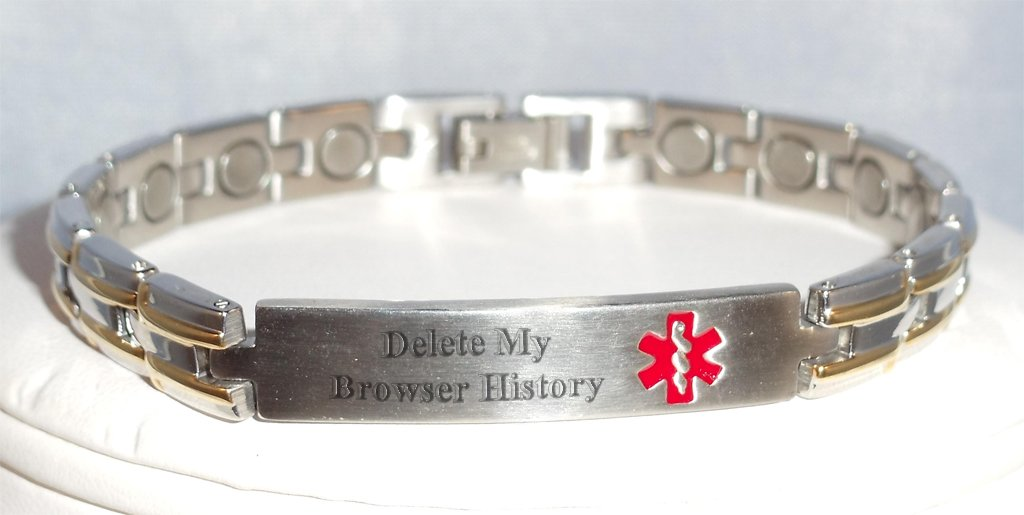 The ultimate Medic-Alert bracelet for the Internet generation.