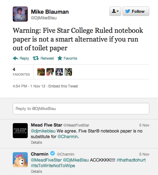 Not one, but two corporate Twitter accounts respond to man's tweet about poop.