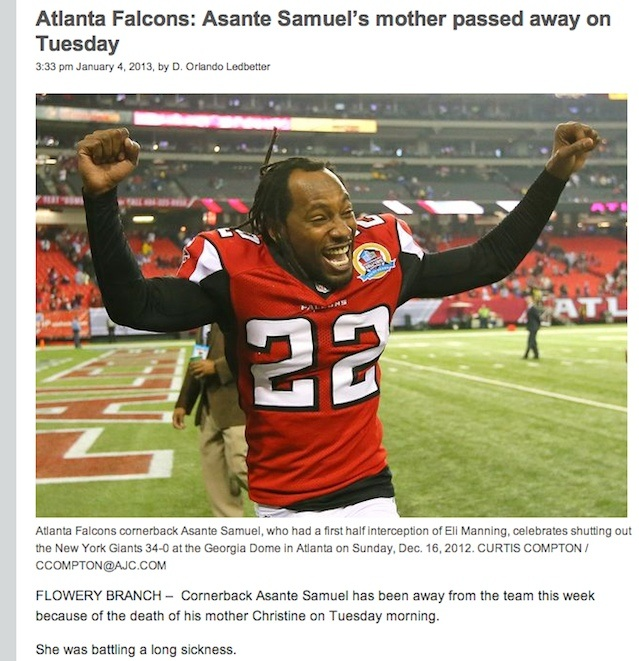Paper couldn't possibly pick a worse headline/photo combination to cover death of NFL player's mother.
