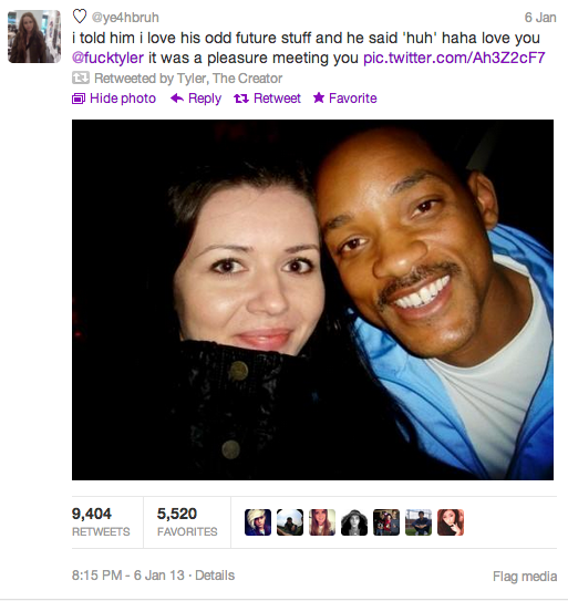 Excited fan meets Will Smith and fails miserably at telling black people apart.