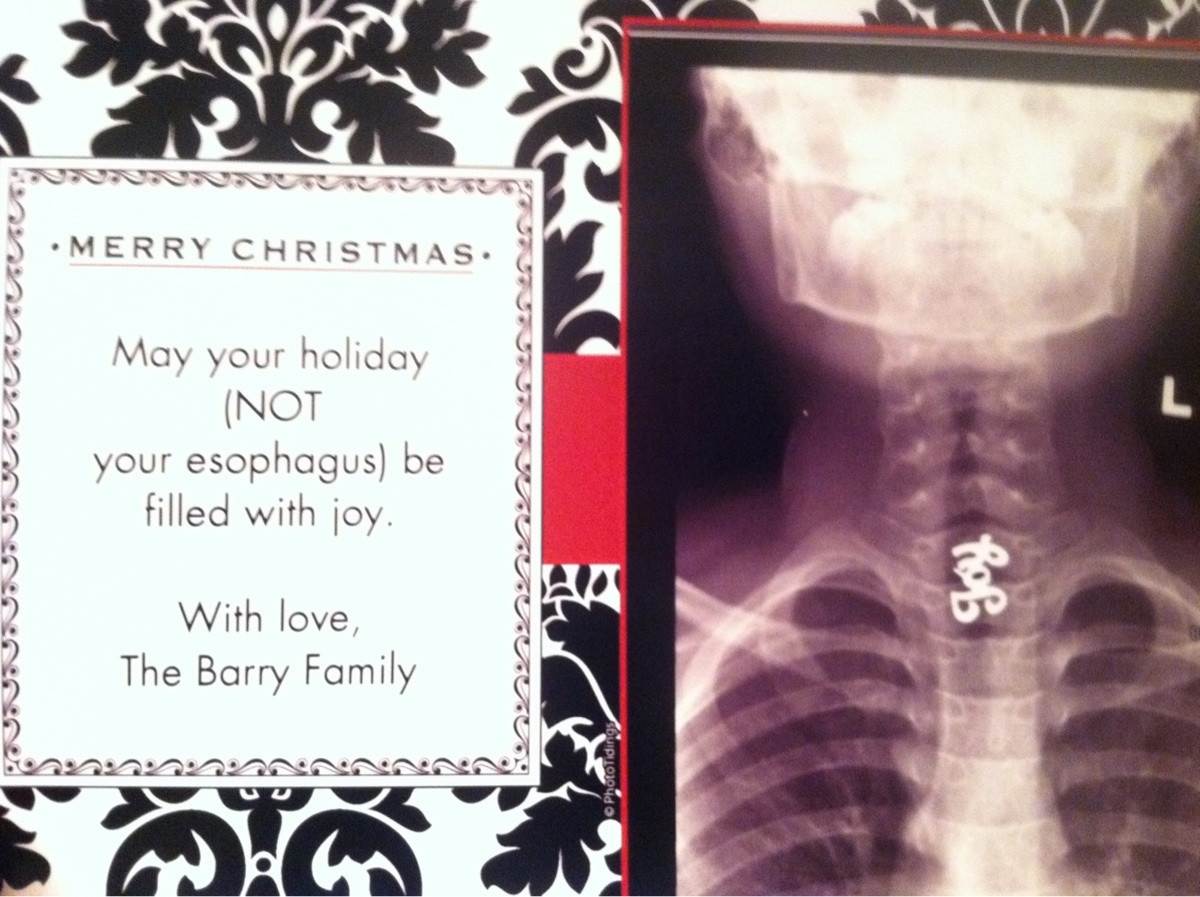 How to turn a horrible childhood accident into an awesome holiday card.