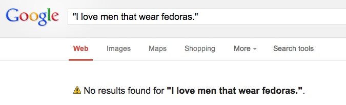 The single truest search result ever found on Google.