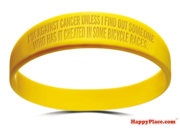 A new wristband for everyone who is cutting off their Livestrong bracelets.