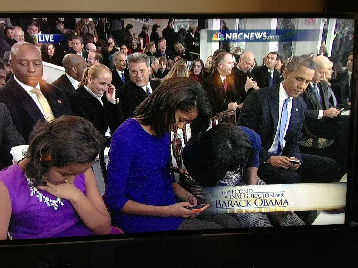 Proof the President's family are as incapable of paying attention to the inauguration as we are.