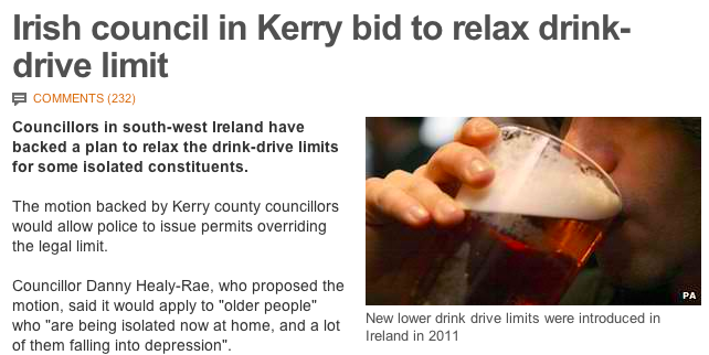 Ireland passes historic new law to further reinforce Irish stereotypes.