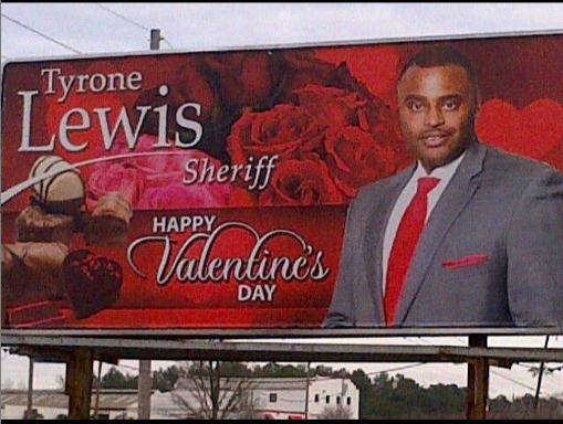 A billboard for the most romantic sheriff in America.