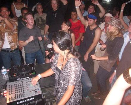 This may or may not be a sweaty, dancing Mark Zuckerberg at a rave in 2009.