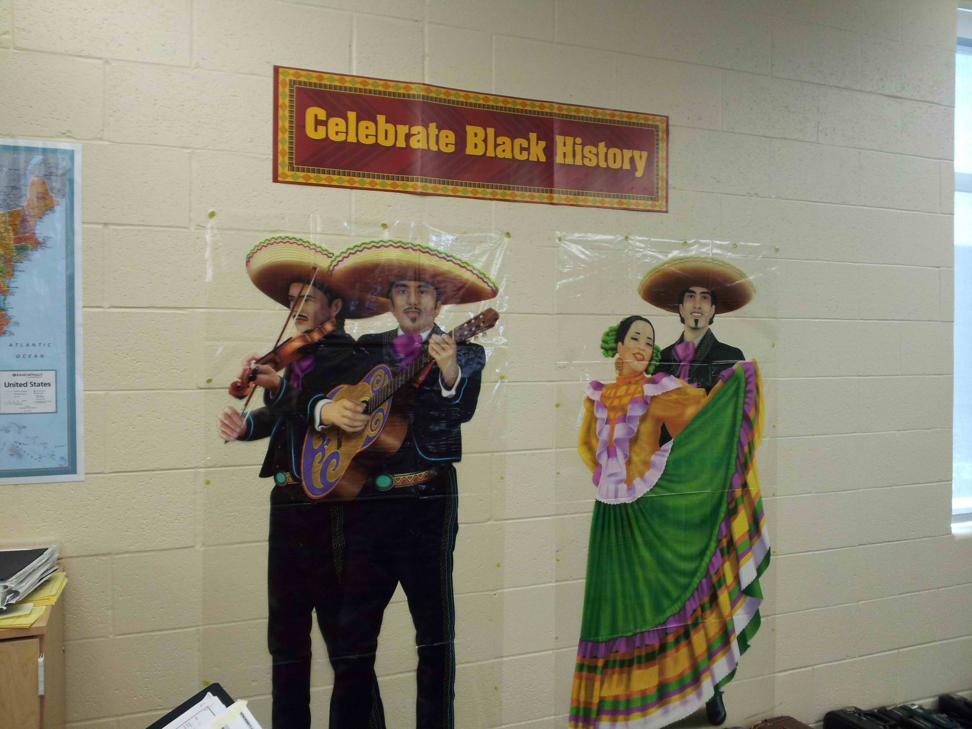 Classroom decorated with most confusing observance of Black History Month we've seen yet.