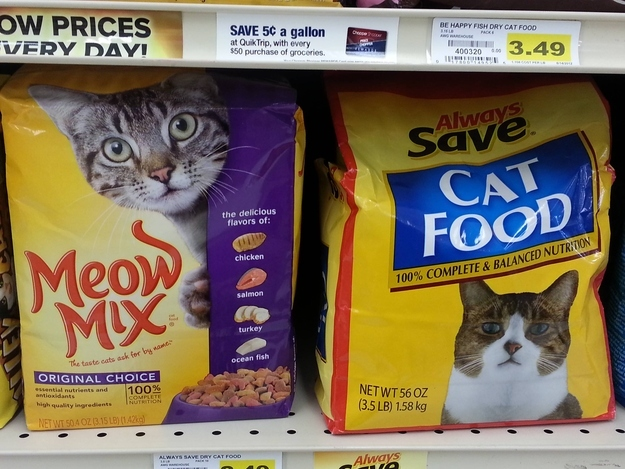Generic cat food doesn't even pretend it will make your cat happy.