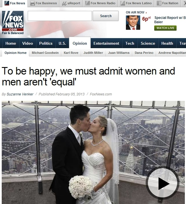 Fox News accidentally uses photo of lesbian couple to illustrate article promoting traditional marriage.